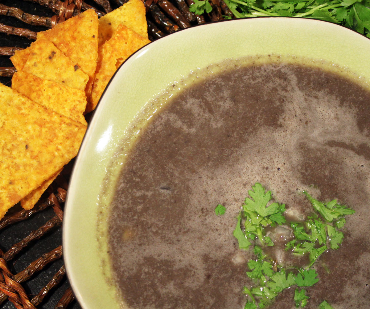 Blackbean suppe
