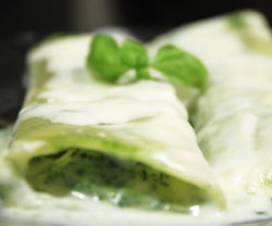 Cannelloni med spinatopskrift