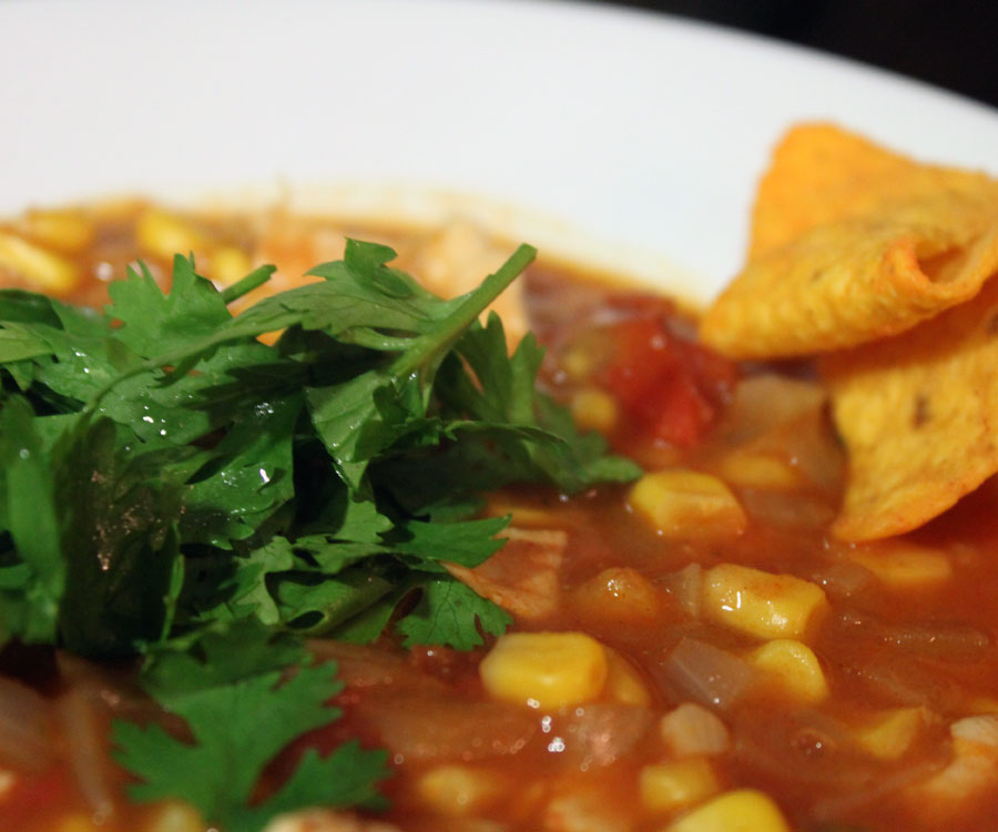 Mexicansk suppe med tortillachips